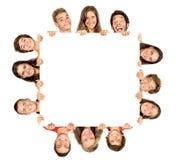 Tonårgrupp Arkivfoto