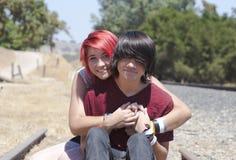 Tonårig förälskelse Fotografering för Bildbyråer