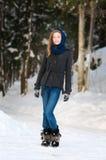 Tonårig Fasshionable vinter Arkivbilder