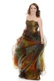 Tonårig flicka i partiklänning Royaltyfria Bilder