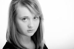 Tonårig flicka med copyspace Fotografering för Bildbyråer