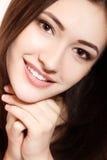Tonårig flickaskönhetframsida Fotografering för Bildbyråer