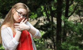 Tonårig fred arkivfoton