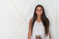 Tonårig modell för minoritet royaltyfri bild