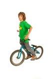 Tonårig pojke för Freestylercyklist Fotografering för Bildbyråer