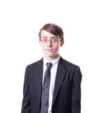 Tonårig pojke i dräkt Royaltyfri Fotografi