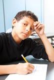 Tonårig pojke - provångest arkivbilder