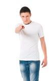 Tonårig pojke som pekar till dig Arkivbilder