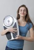 Tonårig sjukvård och kondition med viktkontroll Arkivfoto