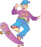 Tonårig skateboarder Royaltyfri Bild