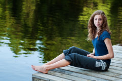 Tonårig sommartid Fotografering för Bildbyråer