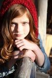 Tonårig vinter Fotografering för Bildbyråer