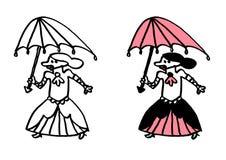 Tonåriga gotiskt & lolita för subkultur rosa Arkivfoto