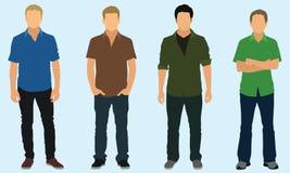 Tonåriga pojkar i försåg med krage skjortor Fotografering för Bildbyråer