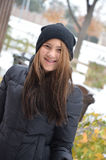 Tonårigt i snö Royaltyfria Foton
