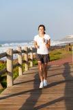 Tonårigt jogga för flicka Fotografering för Bildbyråer
