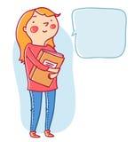 Tonårigt med en bok Arkivbild