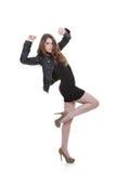 Tonårigt posera för säkert mode Fotografering för Bildbyråer