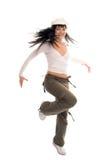 tonåring för flicka för skönhetbrunettdans arkivfoto