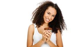 Tonåring med muffin Royaltyfri Fotografi