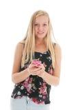 Tonåring med smartphonen Royaltyfri Foto