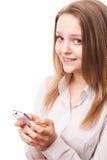 Tonåring och telefon Royaltyfri Foto