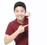Tonåringadvertizing Arkivfoto