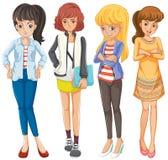 tonåringar vektor illustrationer