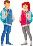 Tonåringar Arkivfoton