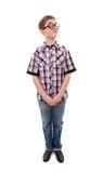 Rolig tonårs- pojke i exponeringsglas royaltyfria bilder