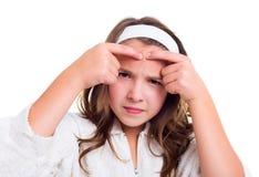 Tonårings begrepp för hudproblem Arkivbilder