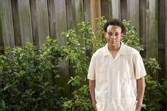 tonårs- afrikansk amerikanpojke Arkivfoton