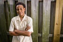 tonårs- afrikansk amerikanpojke Royaltyfri Bild