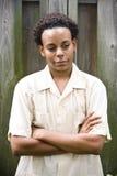 tonårs- afrikansk amerikanpojke Royaltyfria Bilder