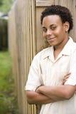 tonårs- afrikansk amerikanpojke Arkivbilder