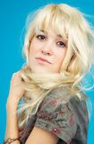 tonårs- blond flicka 3 Royaltyfria Bilder