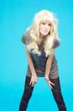 tonårs- blond flicka 5 Arkivfoton