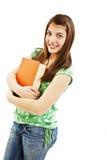 tonårs- bokflicka Arkivbild