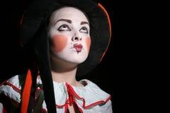 tonårs- clown arkivfoto