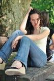 tonårs- conflictvänflickor Royaltyfri Bild