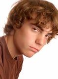 tonårs- förargad pojke Fotografering för Bildbyråer