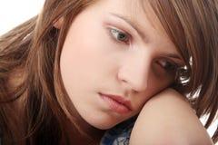 tonårs- fördjupningsflicka Royaltyfria Bilder