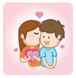 Tonårs- ferie för kyssförälskelsevalentin Vektor Illustrationer