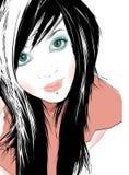 tonårs- flicka stock illustrationer