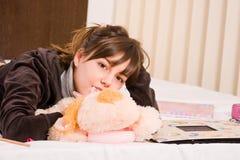 tonårs- flicka Fotografering för Bildbyråer