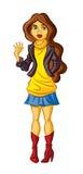 tonårs- flicka Vektor Illustrationer