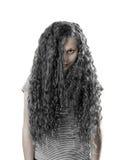 Tonårs- flicka med gotisk makeup Royaltyfri Fotografi