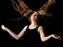 Tonårs- flicka, studiofoto Royaltyfri Bild