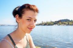 tonårs- flickahav royaltyfria foton