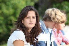 tonårs- flickastående Royaltyfri Bild